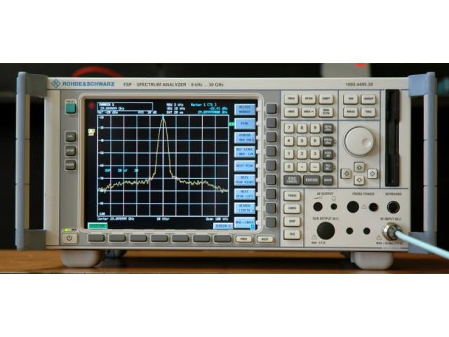 R&S FSP30 spektrální analyzátor 9kHz až 30GHz obrázek 01