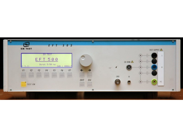 EM TEST EFT 500 surge generator Tester pro zkoušky rychlými impulzy 61000-4-4 obrázek 01